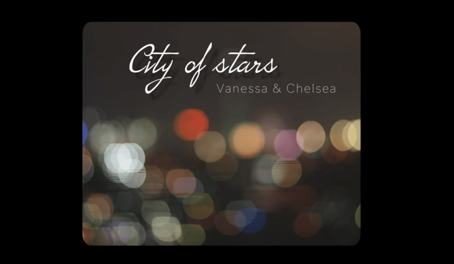 City of Stars- Acoustic cover by Vanessa & Chelsea